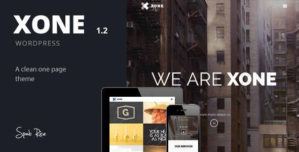 Xone – Clean One Page WordPress Theme