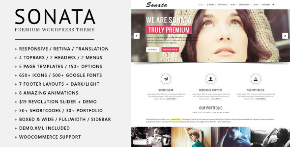 Sonata – Elegant Multi-purpose WordPress Theme