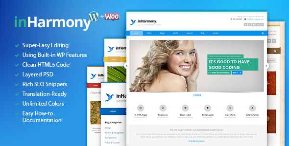 inHarmony – Responsive Multi-Purpose WP Theme
