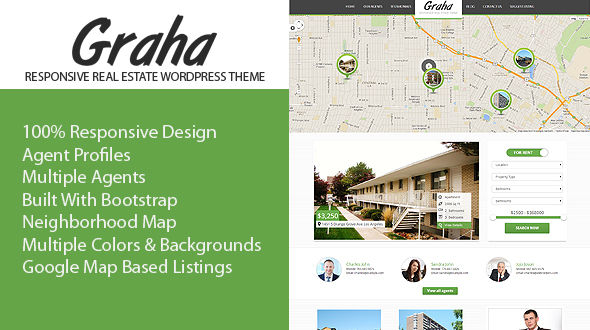 Graha Responsive Real Estate WordPress Theme