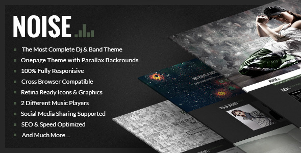 NOISE – Onepage DJs & Band WordPress Theme