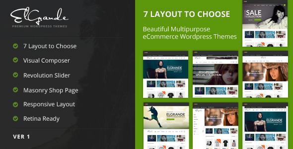 Elgrande – 7 Beautiful Layouts eCommerce Theme
