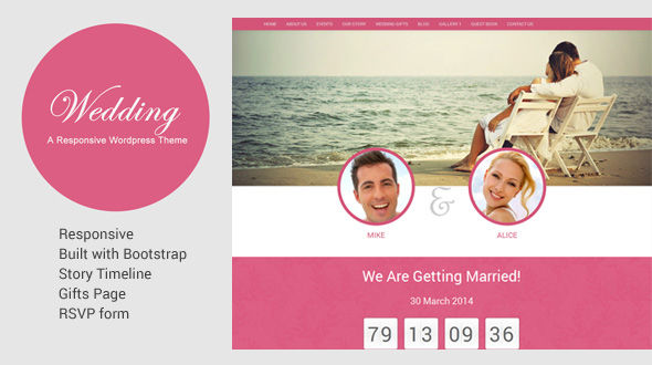 Wedding Responsive WordPress Theme
