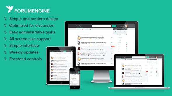 ForumEngine – Flat Responsive WordPress Forum Theme