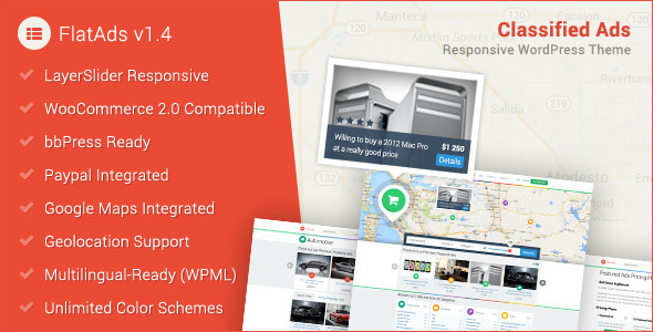 FlatAds – Classified AdsWordPress Theme