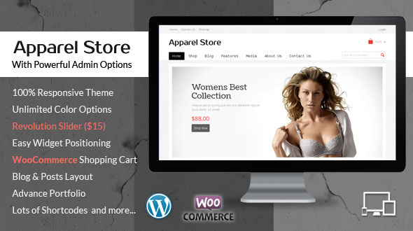 Clothes & Apparel – WooCommerce Responsive WordPress Theme