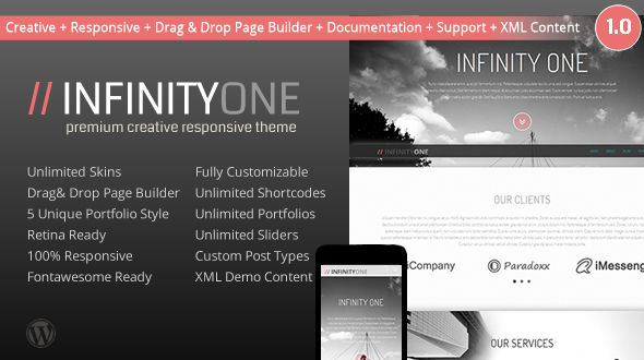 InfinityOne Creative & Responsive WordPress Theme