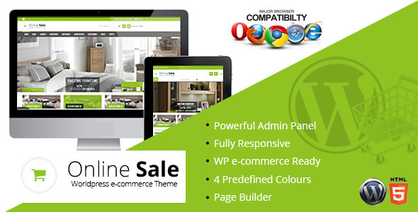Online Sale – Responsive wp-ecommerce Theme