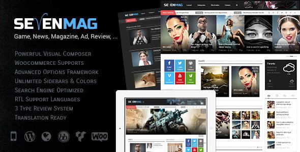 SevenMag – Blog/Magzine/Games/News WordPress Theme