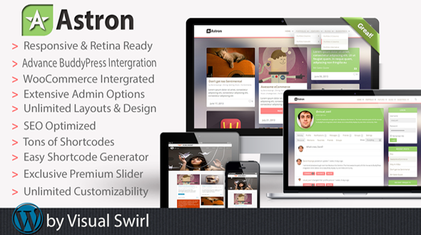 Astron – Responsive Multi-Purpose WordPress Theme