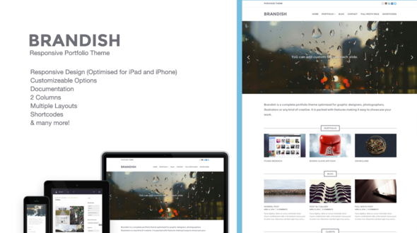 Brandish – Responsive Portfolio Theme