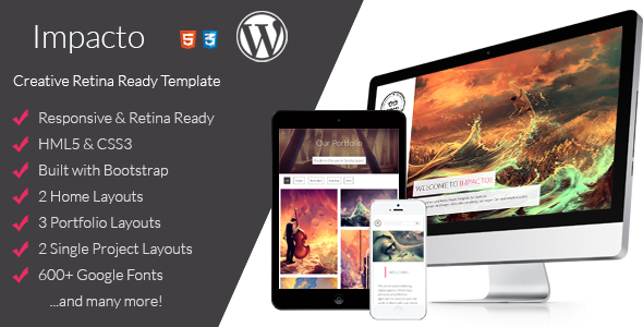 Impacto – Flavorful and Minimalistic WP Theme