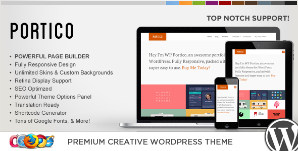 WP Portico Responsive Creative WordPress Theme