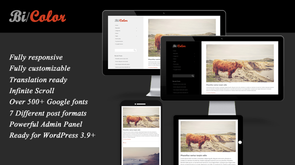 BiColor – Responsive WordPress Theme for Blog