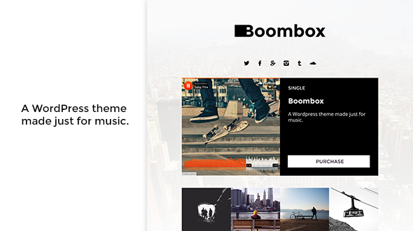 Boombox – Responsive Music WordPress Theme