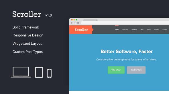 Scroller – Responsive OnePage WordPress Theme