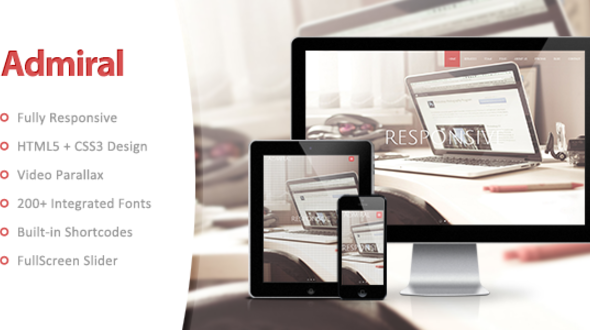 Admiral – Responsive One Page WordPress Theme