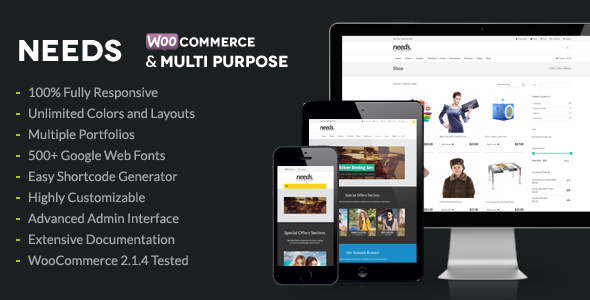 Needs – WooCommerce & Multipurpose Theme