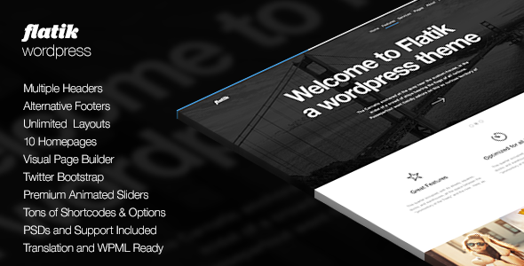 Flatik | Responsive Multi-Purpose Theme