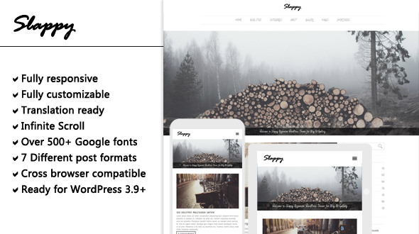 Slappy – Responsive Blog & Gallery WordPress Theme