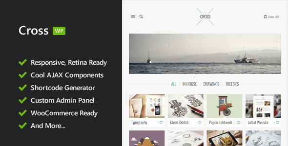 Cross – Minimal Responsive WordPress Theme