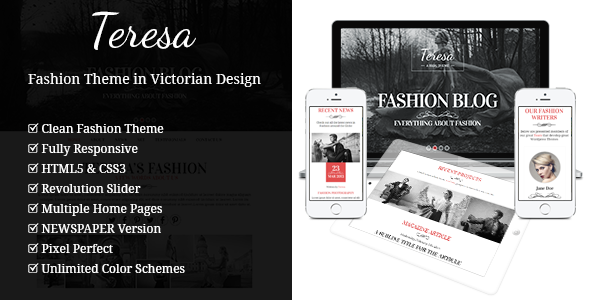 Teresa – A One And Multi Page Fashion Theme