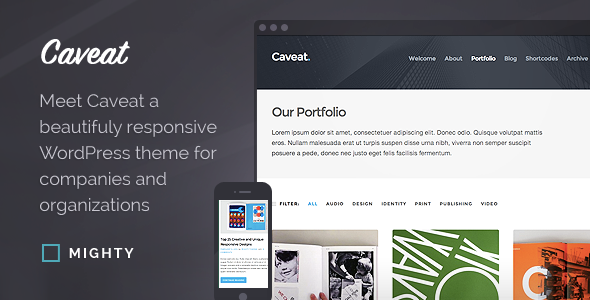 Caveat WordPress Theme