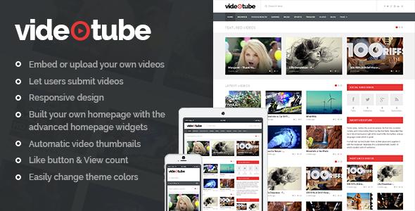 VideoTube – A Responsive Video WordPress Theme