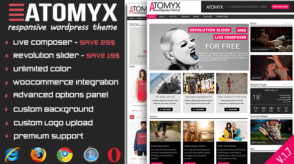 Atomyx responsive wordpress theme