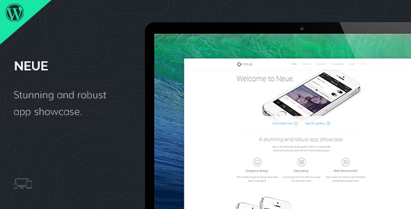 Neue – WordPress App Landing Theme