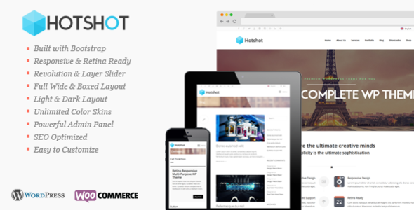 Hotshot – Retina Responsive Multi-Purpose WP Theme