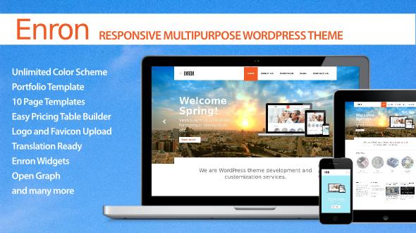 Enron – Responsive Multipurpose WordPress Theme