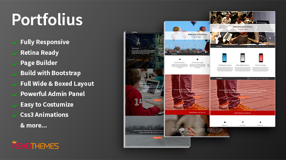 Portfolius – Responsive Web Agency & Portfolio WordPress Theme