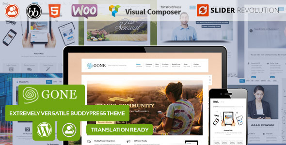Gone – BuddyPress & WordPress Theme