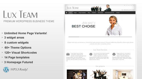 Lux Team – Premium Business WordPress Theme