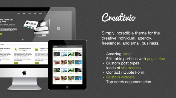 Creativio Agency / Creative WordPress Theme