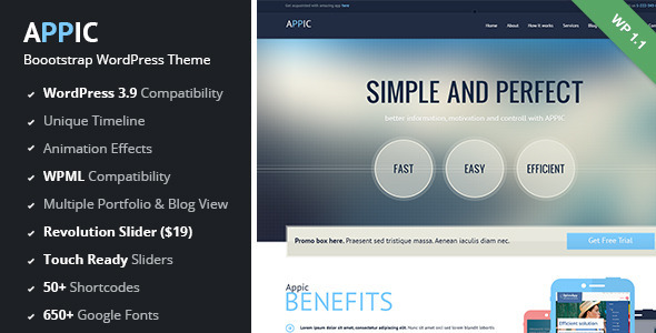 Appic – Business & Technology WordPress Theme