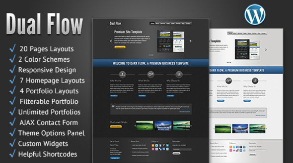 Dual Flow WordPress Theme