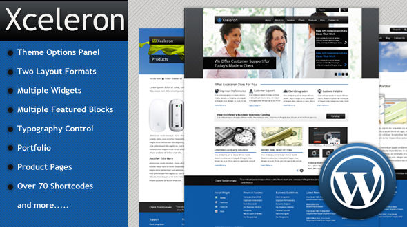 Xceleron: Premium WordPress Business Theme