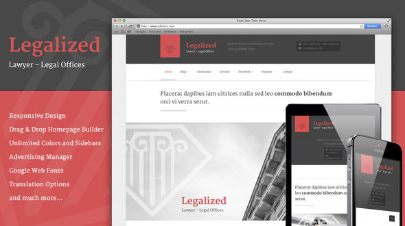 Legalized – Modern Business WordPress Theme