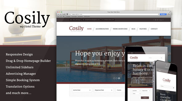 Cosily – WordPress Theme for hotels
