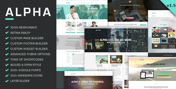 Alpha – Ultra Flexibile Responsive WordPress Theme