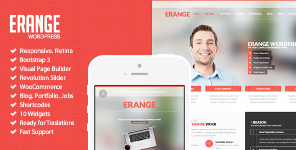 Erange – Responsive Multipurpose WordPres Theme