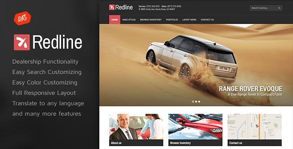 Redline – Car Dealership WordPress Theme