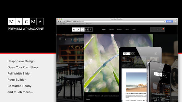 Magma – Responsive WordPress BlogMagazine