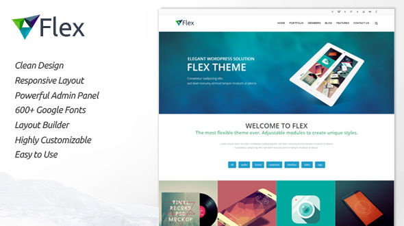Flex | Clean and Responsive WP Theme