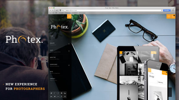 Photex – Responsive Portfolio Photography Theme