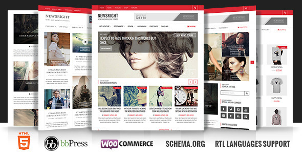 Newsright – WordPress Premium HD News & Magazine