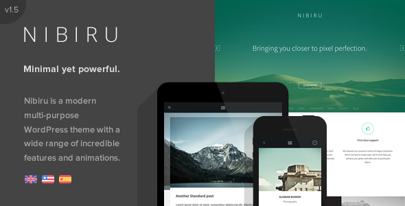 Nibiru – Multi-Purpose Responsive WordPress Theme