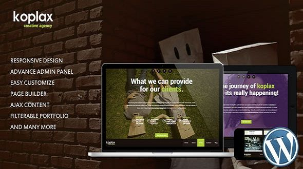 Koplax – Creative Responsive WordPress theme